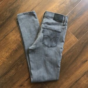 Levi's Light Grey 311 Shaping Skinny Jeans size 27